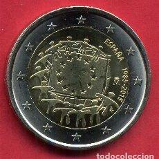 Euros: MONEDA DE 2 EUROS ESPAÑA CONMEMORATIVA AÑO 2015 BANDERA EUROPA NUEVA DE CARTUCHO, ORIGINAL. Lote 271859433