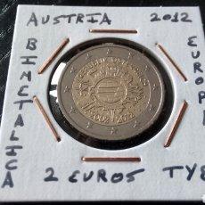 Euros: MONEDA 2 EUROS AUSTRIA 2012 TYE MBC ENCARTONADA. Lote 251797500