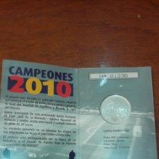 Euros: ESPAÑA 2010 20 EUROS CAMPEONES DEL MUNDO CARTERA FNMT. Lote 124636818