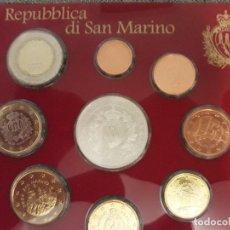 Euros: PAQUETE DE MONEDAS EUROS SIN CIRCULA SAN MARINO . Lote 125928943