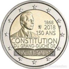Euros: LUXEMBURGO 2018. MONEDA DE 2 EUROS CONMEMORATIVA DEL 150 ANIVERSARIO DE LA CONSTITUCION. DE CARTUCHO. Lote 126046503