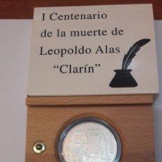 Euros: ESPAÑA 2001 2.000 PESETAS PLATA CENTENARIO LEOPOLDO ALAS CLARÍN FNMT. Lote 126668027