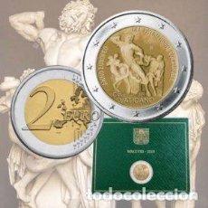Euros: VATICANO 2018. CARTERA OFICIAL DE 2 EUROS CONMEMORATIVA DEL PATRIMONIO ARTISTICO. Lote 127264523