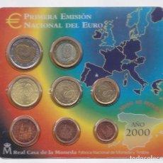Euros: ESPAÑA - CARTERA OFICIAL DE EUROS DE LA FNMT DEL AÑO 2000. Lote 127546783