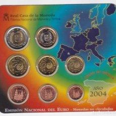 Euros: ESPAÑA - CARTERA OFICIAL DE EUROS DE LA FNMT DEL AÑO 2004. Lote 127546947