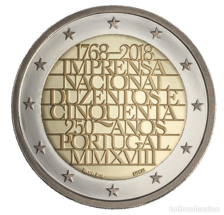 2 EURO CONMEMORATIVA PORTUGAL 2018 IMPRENTA SC (Numismática - España Modernas y Contemporáneas - Ecus y Euros)