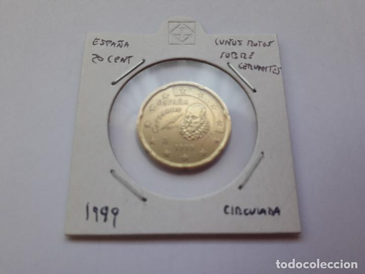 10 00166 España 20 Cent 1999 Cuño Roto S Comprar Monedas