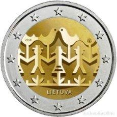 Euros: LITUANIA 2018. MONEDA DE 2 EUROS DEDICADA AL FESTIVAL DE LA CANCION. DE CARTUCHO. Lote 143528378