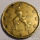 Euros: MONEDA DE 20 CENTIMOS ITALIA 2002, USADO. Lote 130488178