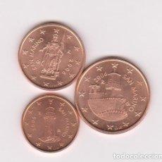 Euros: 1 2 Y 5 CENTIMOS DE EURO - SAN MARINO - AÑO 2006 - SIN CIRCULAR - DE CARTUCHO. Lote 130611398