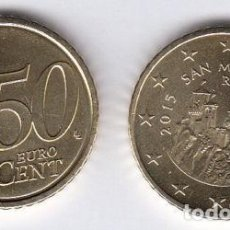 Euros: 50 CENTIMOS DE EURO - SAN MARINO - AÑO 2015 - SIN CIRCULAR - DE CARTUCHO. Lote 130611770