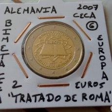 Euros: MONEDA 2 EUROS ALEMANIA 2007 CECA G TRATADO DE ROMA MBC ENCARTONADA. Lote 210637018