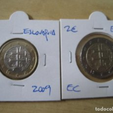 Euros: ESLOVAQUIA 1 Y 2 EUROS 2009. Lote 131040396