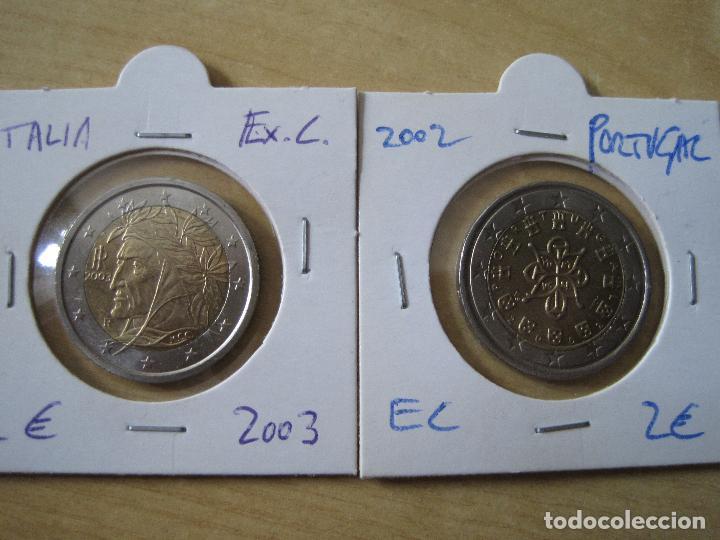 ITALIA 2 EUROS 2003 Y PORTUGAL 2002 (Numismática - España Modernas y Contemporáneas - Ecus y Euros)