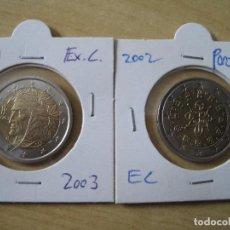 Euros: ITALIA 2 EUROS 2003 Y PORTUGAL 2002. Lote 131040544