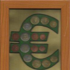 Euros: PRIMERA EMISIÓN DE EUROS DE ESPAÑA 2002. ENMARCADO. DOBLE COLECCIÓN REVERSO Y ANVERSO.. Lote 131443894