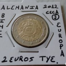Euros: MONEDA 2 EUROS ALEMANIA 2012 CECA J TYE MBC ENCARTONADA. Lote 251798460