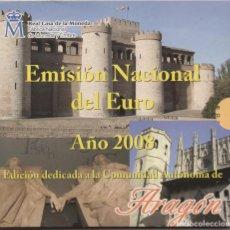 Euros: CARTERA EMISION NACIONAL DEL EURO-AÑO 2008-ARAGON. Lote 132837970