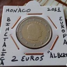 Euros: MONEDA 2€ MÓNACO 2011 MBC ENCARTONADA. Lote 133458303