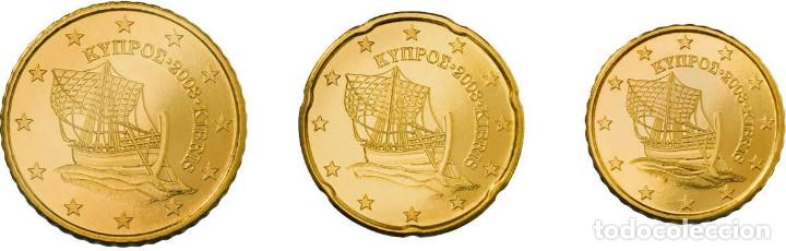 SET / TRIO EUROS CHIPRE 10, 20 Y 50 CENTIMOS 2014 (Numismática - España Modernas y Contemporáneas - Ecus y Euros)