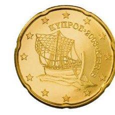 Euros: SET / TRIO EUROS CHIPRE 10, 20 Y 50 CENTIMOS 2014. Lote 264098955