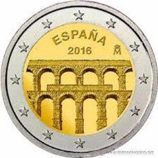 Euros: MONEDA ESPAÑA DE 2 € CONMEMORATIVA DEL ACUEDUCTO DE SEGOVIA AÑO 2016 , SIN CIRCULAR. Lote 182455096