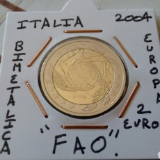 Euros: MONEDA 2 EUROS ITALIA 2004 FAO MBC ENCARTONADA. Lote 251796545