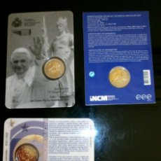 Euros: LOTE 3 BLISTERS ESLOVAQUIA / PORTUGAL 10º AÑO INTRODUCCIÓN EURO SAN MARINO VISITA PAPA 2011. Lote 134899438