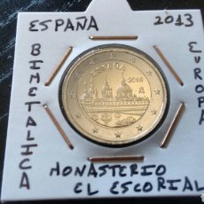 Euros: MONEDA 2 EUROS ESPAÑA 2013 MONASTERIO DEL ESCORIAL MBC ENCARTONADA. Lote 277850508