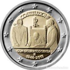Euros: ITALIA 2018. MONEDA DE 2 EUROS CONMEMORATIVA DE LA CONSTITUCION. DE CARTUCHO.. Lote 143527986