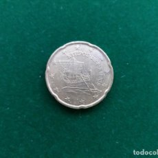 Euros: MONEDA DE 20 CÉNTIMOS DE EURO DE CHIPRE DE 2008.. Lote 135535742