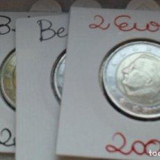 Euros: BELGICA 3 MONEDAS DE 2 EUROS. Lote 137335450