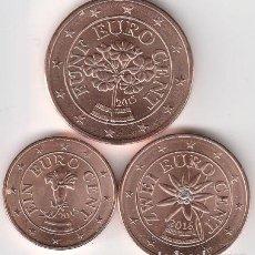 Euros: TRIO CENTIMOS 1 2 5 EURO AUSTRIA 2017 SIN CIRCULAR. Lote 222438250