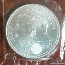 Euros: MONEDA ESPAÑA 12 EUROS. FELIPE Y LETICIA (2004) PLATA. S/C EN SU BOLSA ORIGINAL.. Lote 138568614