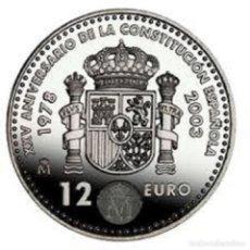 Euros: ESPAÑA 2003. 12 EUROS DE PLATA. XXV ANIVERSARIO DE LA CONSTITUCION. EN SU FUNDA ORIGIHAL. Lote 195215765