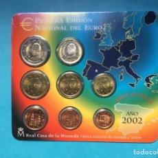 Euros: C-18 )CARTERA,,OFICIAL,,F,N,M,T,,AÑO 2002,,CON 8 VALORES,,NUEVA SIN CIRCULAR,,. Lote 296609753