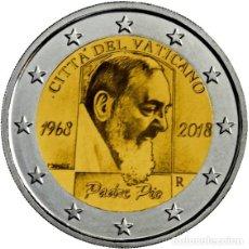 Euros: VATICANO 2018 2€ ANIVERSARIO DE LA MUERTE DEL PADRE PIO. Lote 143774264