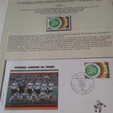 Euros: ITALIA 1990 SOBRE PRIMER DIA SELLOS DE LA COPA MUNDIAL DE FUTBOL ITALIA 90- ALEMANIA CAMPEON- SPD . Lote 140320722