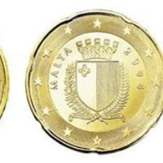 Euros: SET / TRIO EUROS MALTA 10, 20 Y 50 CENTIMOS 2016. Lote 259262740