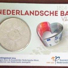 Euros: 5 EUROS HOLANDA -200 ANIVERSARIO DE LA BANCA-, 2014 EN COINCARD (BLISTER-CARNET). Lote 180044573