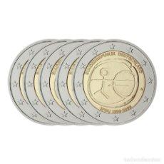 Euros: MONEDA 2 EUROS CONMEMORATIVOS ALEMANIA 2009 - 10º ANIVERSARIO EMU - 5 CECAS. Lote 141007068