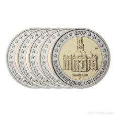 Euros: MONEDA 2 EUROS CONMEMORATIVOS ALEMANIA 2009 - SAARLAND - 5 CECAS. Lote 180461870