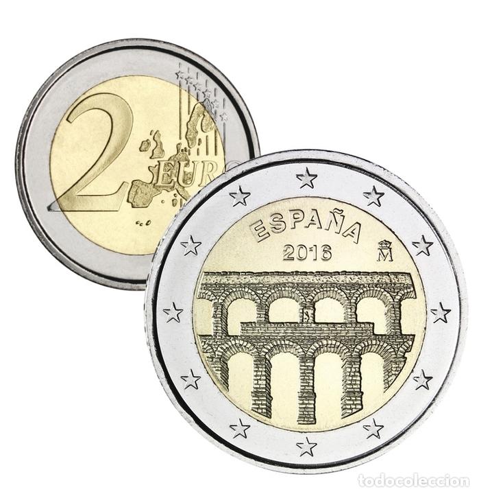 2016 2 EUROS DE ESPAÑA CONMEMORATIVO 1 COIN EURO SPAIN ACUEDUCTO SEGOVIA