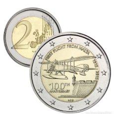 Euros: MONEDA 2 EUROS CONMEMORATIVOS MALTA 2015 - CENTENARIO PRIMER VUELO A MALTA. Lote 141049449