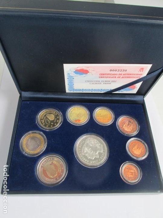 JUAN CARLOS I * COLECCION EUROS 2002 PROOF ** TIN (Numismática - España Modernas y Contemporáneas - Ecus y Euros)