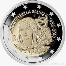 Euros: ITALIA 2 EUROS 2018 60º ANIVERSARIO DEL MINISTERIO DE SALUD ITALIANO. Lote 176163179