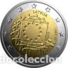 Euros: 2 EUROS LETONIA 2015 XXX ANIVERSARIO DE LA BANDERA EUROPEA. Lote 143411926