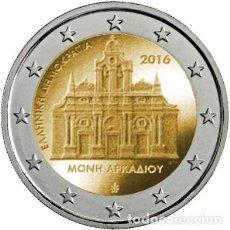 Euros: GRECIA 2 EUROS 2016. 150 AÑOS DESDE QUE SE PRODUJO EL INCENDIO DEL MONASTERIO DE ARKADI. Lote 195436241