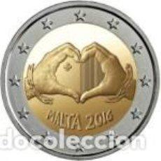 Euros: MALTA 2016 2 EUROS.LOS NIÑOS Y LA SOLIDARIDAD - EL AMOR. Lote 161440016
