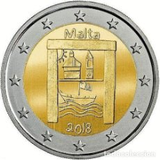 Euros: 2 EUROS CONMEMORATIVA MALTA 2018 PATRIMONIO CULTURAL SC. Lote 163986050